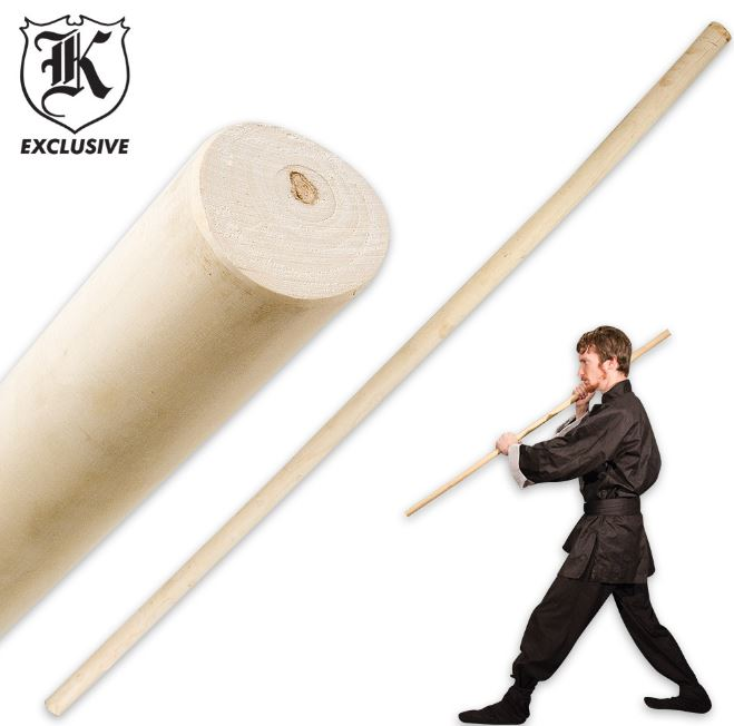 4 Foot Wax Wood Tapered Staff