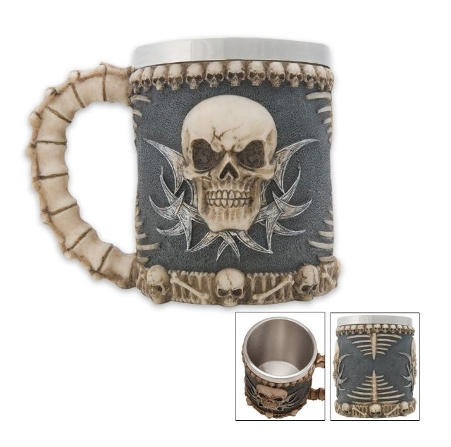 Tribal Skull Coffee Mug Tankard