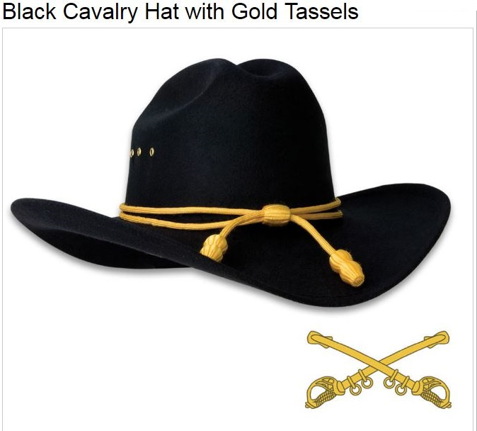 Civil War Union Cavalry Hat w/Gold Tassels