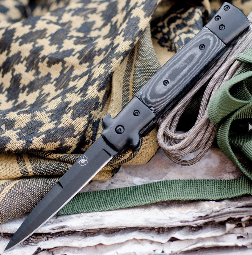 Micarta Handle Assisted Opening Folding Knife