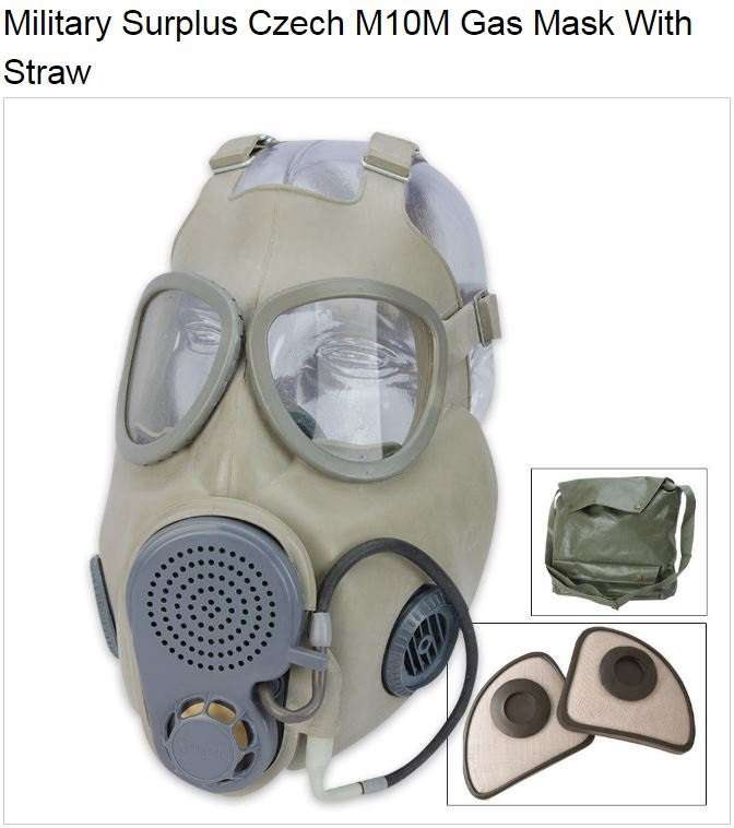 Czech Military Surplus M10M Gas Mask (Online Only)