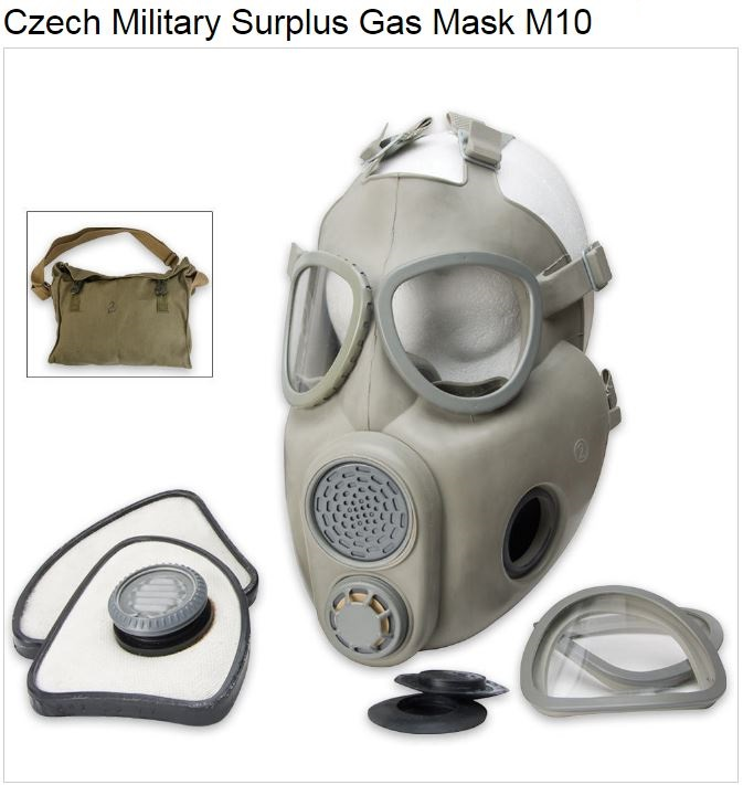 Czech Military Surplus Gas Mask M10 (Online Only)