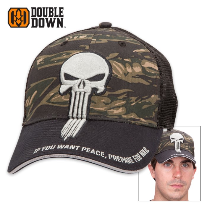 Double Down Punisher of Evil Cap - Sebra Camo & Mesh