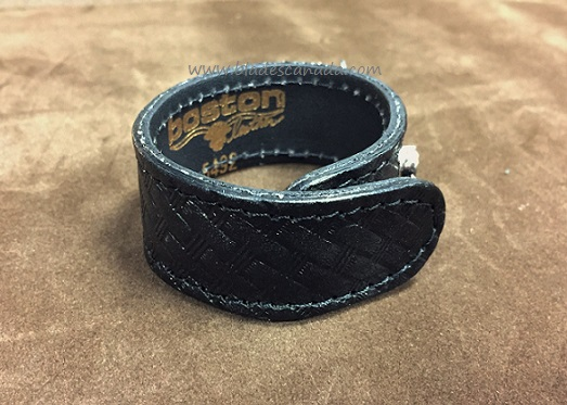 "Boston Leather 5492HS3 1"" Belt Keeper Hidden Snaps - Basketweave"