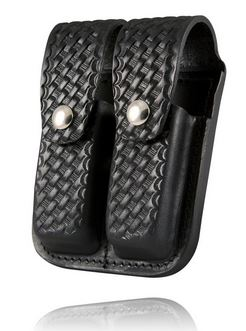 Boston Leather 5601-3 Double Mag Holder 9mm/.40 - Basketweave