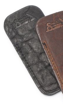 Santa Fe Stoneworks Buffalo Hide Knife Pouch - Black