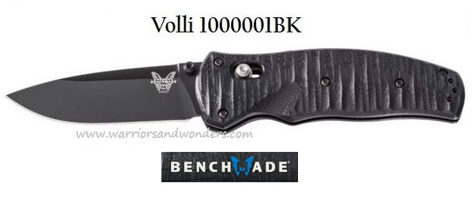 Benchmade Volli Blk Plain Edge Blade Assisted Opening 1000001BK