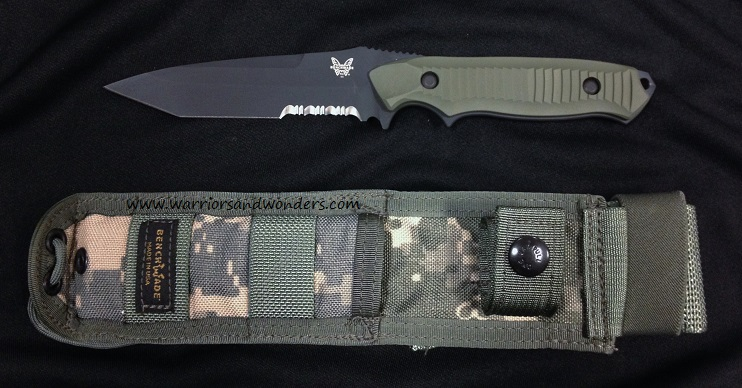 Benchmade Nimravus Tanto Green Handle Serrated 141SBKADC