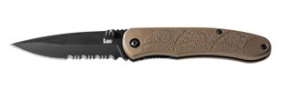 Heckler & Koch 14652SBT P30 Assisted Tan - Partially Serrated