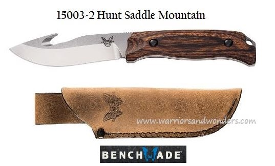 Benchmade Hunt Saddle Mountain Skinner - Wood Handle 15003-2