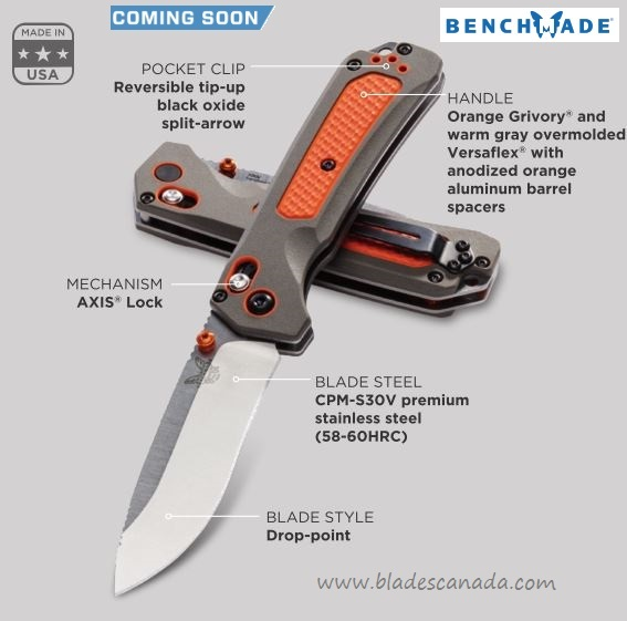 Benchmade 15061 Grizzly Ridge S30V Folding Knife (Coming Soon)