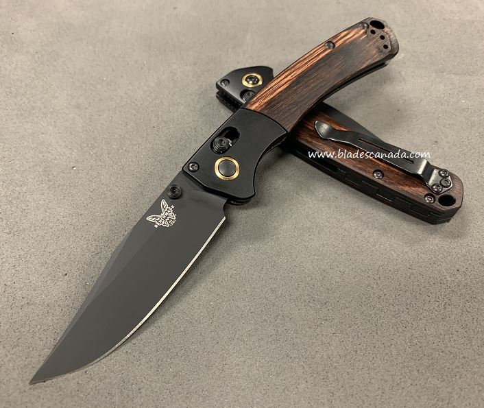 Benchmade Mini Crooked River, S90V Black, Dymondwood, 15085CU26 (Online Only)