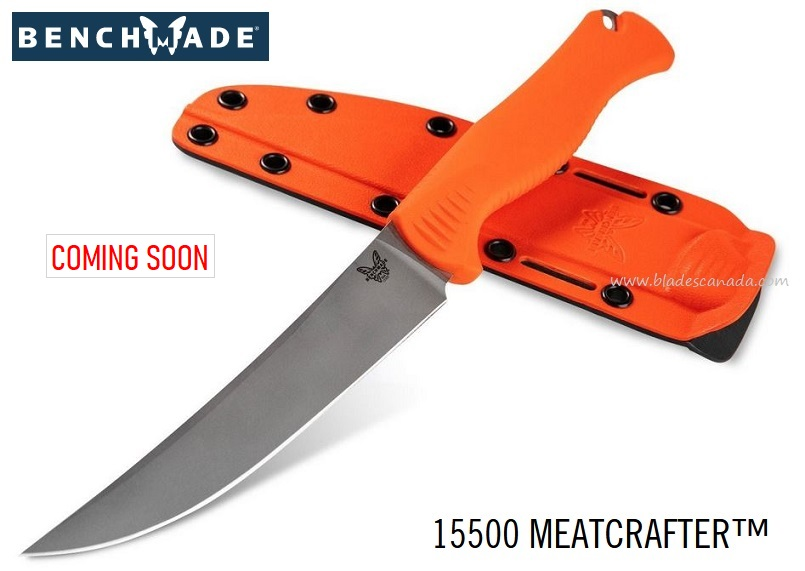 (Coming Soon) Benchmade Knives Meatcrafter Orange, CPM-154 Steel, 15500