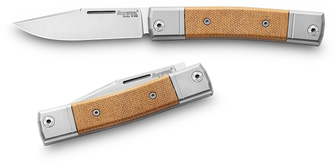Lion Steel BM1CVN BestMAN Slipjoint Single Clip -Natural Micarta