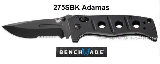Benchmade 275SBK Adamas Folder All Black w/Serration