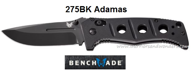 Benchmade Adamas Folder All Black Plain Edge 275BK (Online Only)