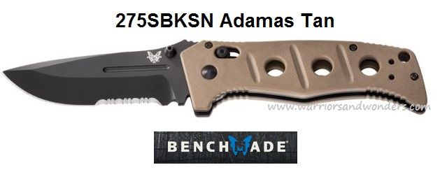 Benchmade Adamas Folder Desert Tan Handle w/Serration 275SBKSN