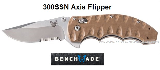 Benchmade 300SSN Axis Flipper Serrated