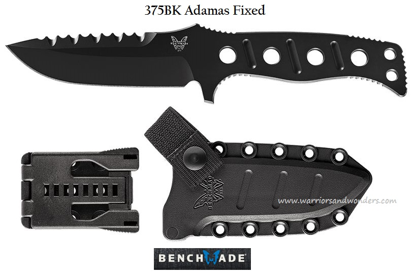 Benchmade Adamas Fixed Injection Molded Black Sheath-Black 375BK (Online Only)