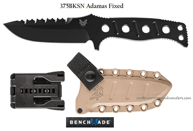 Benchmade Adamas Fixed Injection Molded Tan Sheath-Black 375BKSN