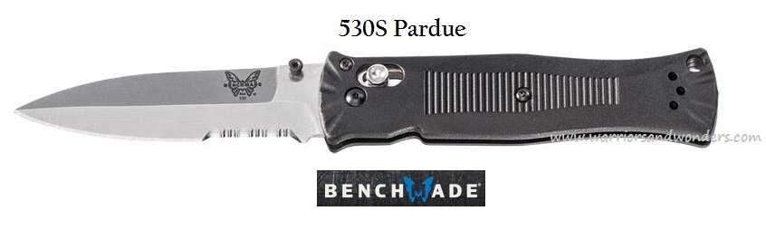Benchmade 530S Pardue Spear Point Satin w/ Serration