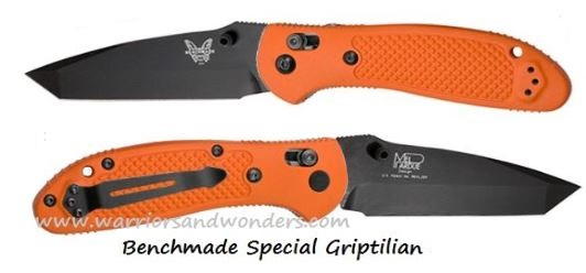 Benchmade Griptilian 553 Tanto Black S30V Orange