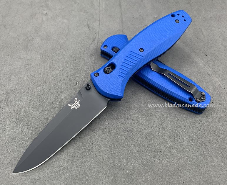 Benchmade Customized Barrage Osborne, M4 Steel, Blue G10, Assisted Opening, 580CU13