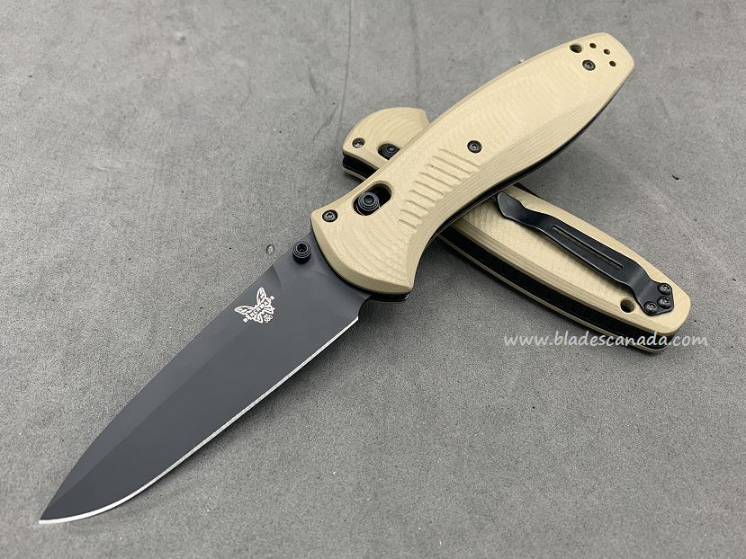 Benchmade Customized Barrage Osborne, M4 Steel, Desert Tan G10, Assisted Opening, CU17