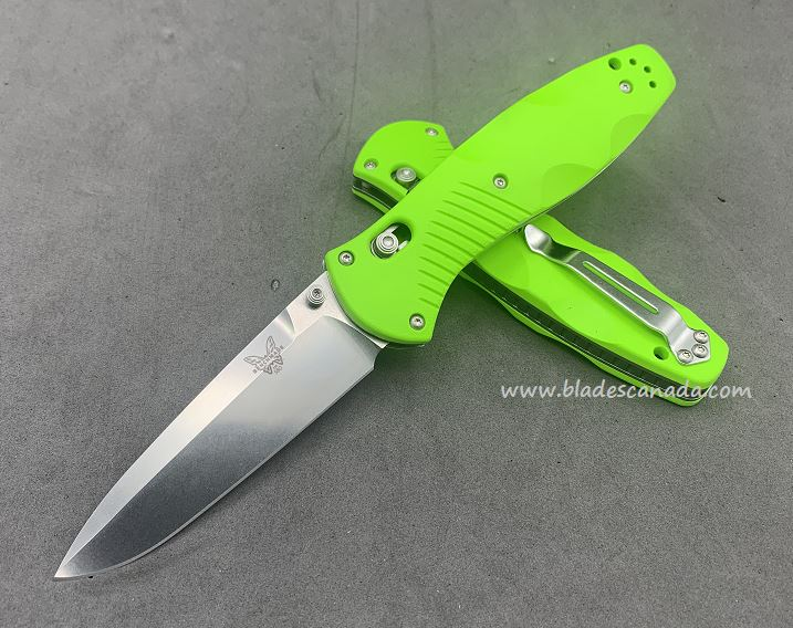 Benchmade Customized Barrage Osborne, 20CV Steel, Neon Green, Assisted Opening, 580CU35