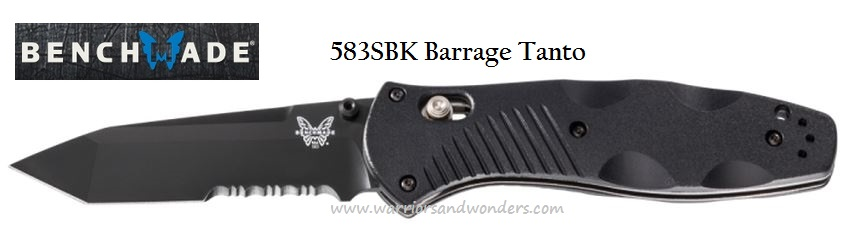 Benchmade Barrage Osborne, 154CM Black Tanto Blade w/Serration, Assisted Opening, BM583SBK