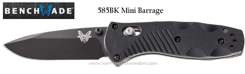 Benchmade Barrage Mini Osborne, 154CM, Assisted Opening, BM585BK