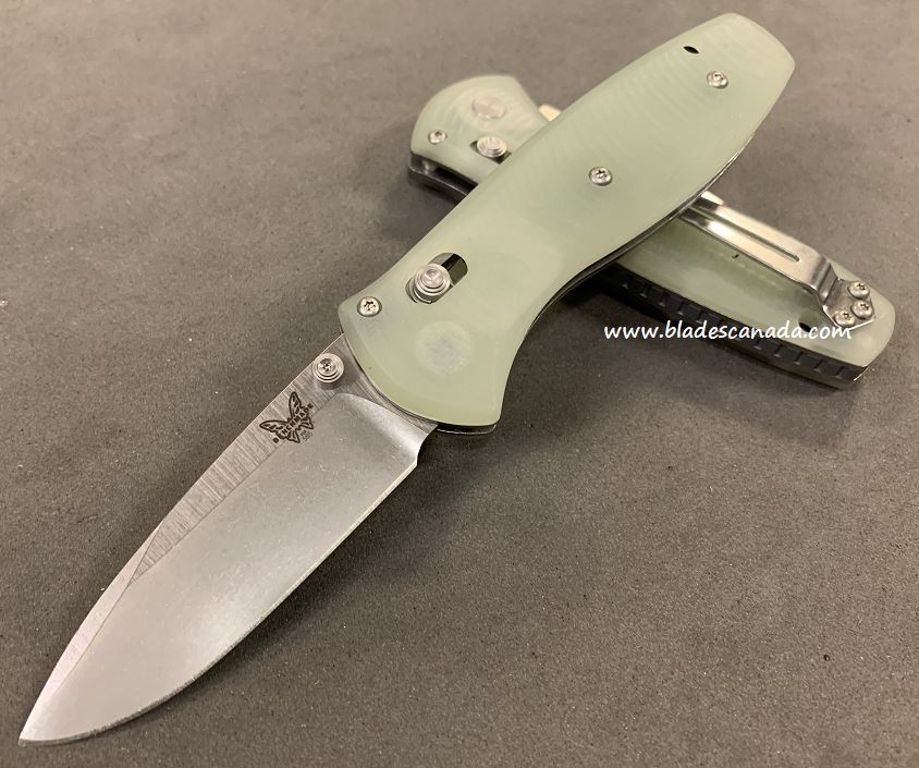 Benchmade Mini Barrage Osborne, 20CV Steel, Natural Jade, Assisted Opening, 585CU19