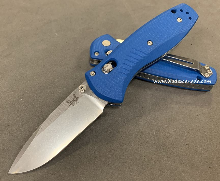 Benchmade Mini Barrage Osborne, 20CV Steel, Blue G10, Assisted Opening, 585CU21
