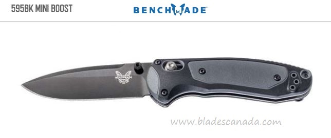 Benchmade Mini Boost, Black 30V Steel, Assisted Opening, BM595BK