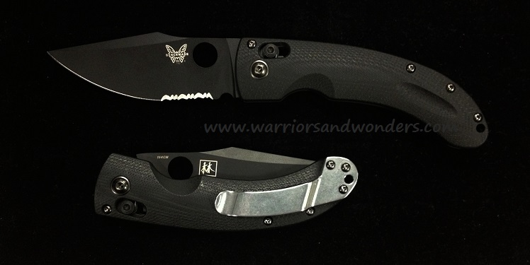 Benchmade 746SBK Mini-Onslaught Black Blade w/Serration (Online)
