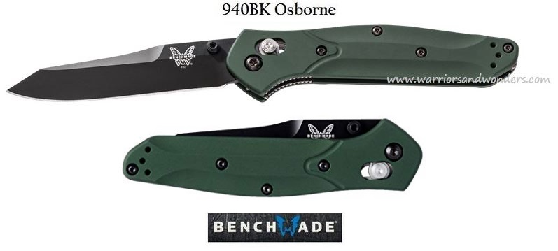 Benchmade Osborne Black Plain Edge 940BK