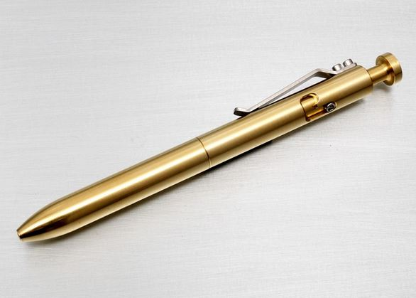Karas Kustoms Bolt Pen Brass
