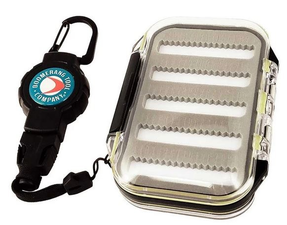 Boomerang 170-Fly WP Fly Fishing Box & Retractable Gear Tether 24""
