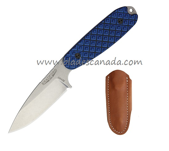 Bradford Knives Guardian 3.5 N690 SW Saber - Blue & Black G10