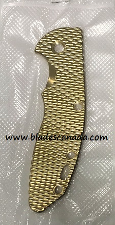 Hinderer Replacement Handle Scale for XM-18 3.5- Brass Textured