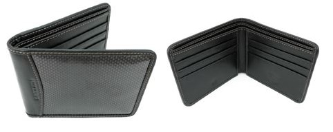 Bastion Pure Carbon Fiber and Leather RFID Wallet