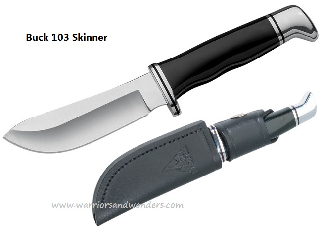 Buck Knives 0103BKS Skinner w/Leather Sheath
