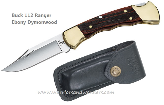 Buck 0112BRSFG 112 Ranger Knife Ebony Dymondwood