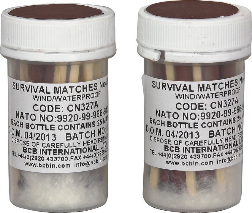 BCB Bushcraft Weatherproof Survival Matches - 2 Pack
