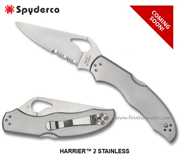 Byrd Knives Harrier 2 Stainless partially Serrated, by Spyderco BY01PS2 (Coming Soon)