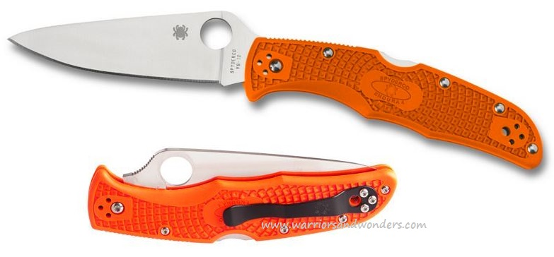 Spyderco Endura 4 Orange FRN FFG Folding Knife C10FPOR
