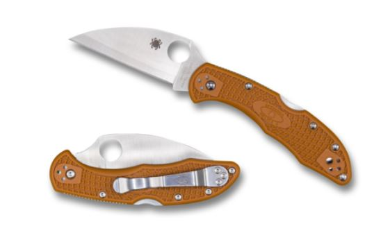 Spyderco Delica 4 Wharncliffe Hap 40 Burnt Orange Sprint Run
