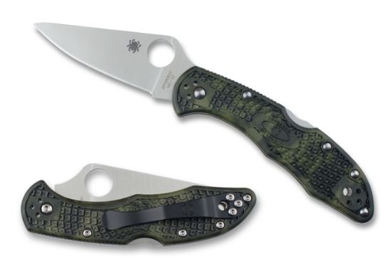 Spyderco Delica 4 Zome Green Folding Knife C11ZFPGR