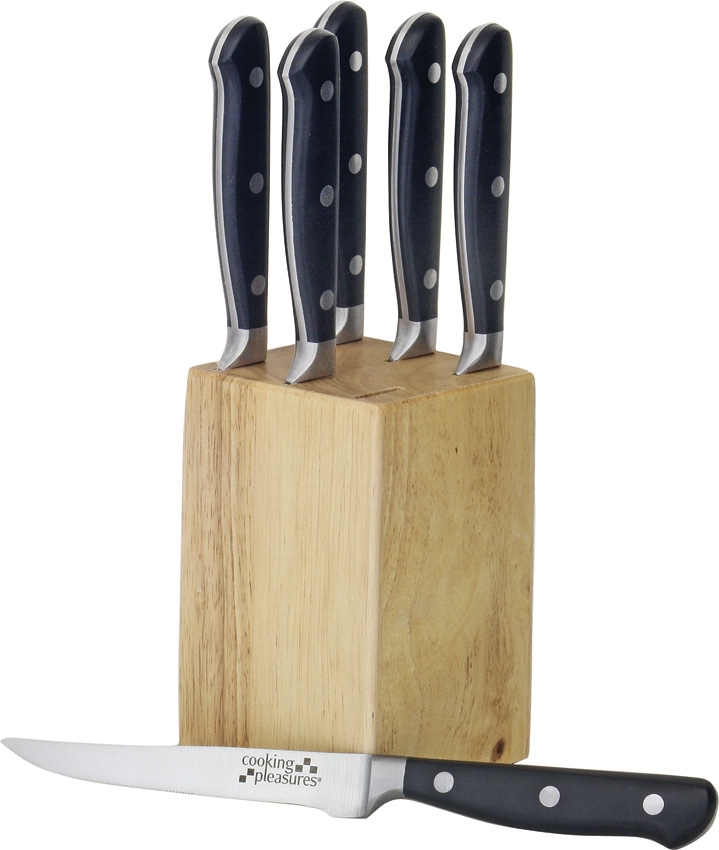 Cooking Pleasures 6-Piece Steak Set with Block (Online Only)