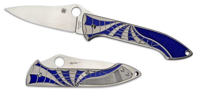 Spyderco C171TIBLP Mike Draper Folder Ti Blue